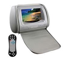 Encosto De Cabeça KX3 Cinza Com Leitor Dvd Joystick Lcd 7 Pol Com Ziper