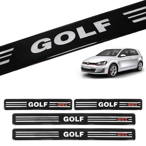 Jogo De Soleira Vw Golf 4P Preta