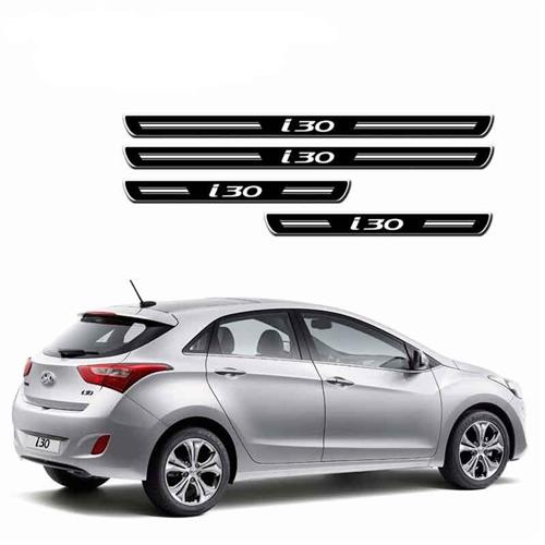 Jogo De Soleira Hyundai I30 4P Preta