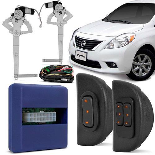 Kit Vidro Elétrico Nissan Marchi Versa 2011 a 2014 4 Portas Sensorizado