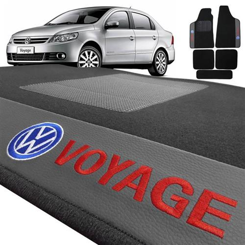 Jogo de Tapetes Bordado HITTO Completo VW Voyage 2009 a 2015