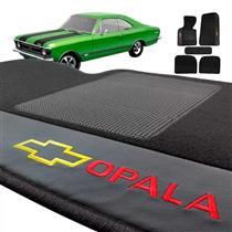 Jogo de Tapetes Bordado HITTO Completo GM Opala 1972 a 1992