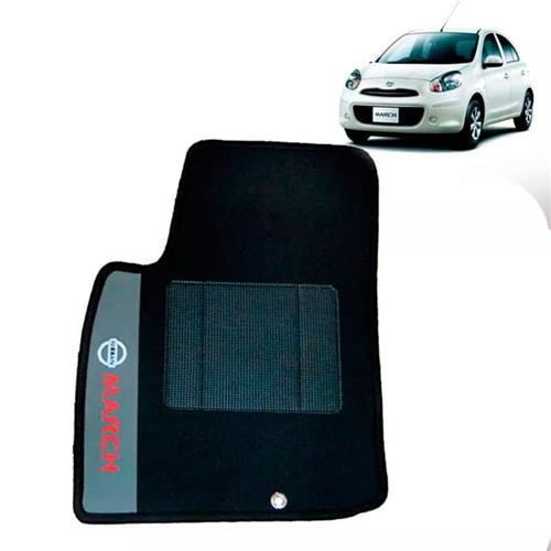 Jogo de Tapetes Bordado HITTO Completo Nissan March 2011 a 2015