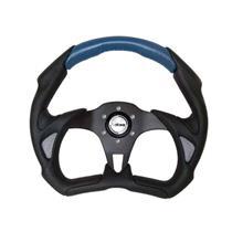 Volante Lotse Esportivo Grid Escovado Azul