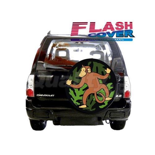 Capa De Estepe Flash Cover Estampada Com Cadeado Tracker A207C M05