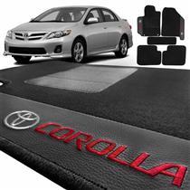 Jogo de Tapetes Bordado HITTO Completo Toyota Corolla 2008 a 2015