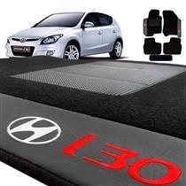 Jogo de Tapetes Bordado HITTO Completo Hyundai I30 2009 a 2012