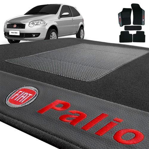 Jogo de Tapetes Bordado HITTO Completo Fiat Palio 1996 a 2013