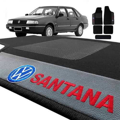 Jogo de Tapetes Bordado HITTO Completo VW Santana 1997 a 2006