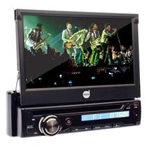 Dvd Player Retrátil Automotivo DZ-5215BT Dazz Mp3 7 Pol Usb Bluetooth Cd Sd Card Rádio Aux