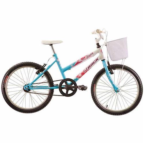 """Bicicleta Track & Bikes Aro 20"""" Cindy BP Com Cesta Sem Marcha Azul Claro"""