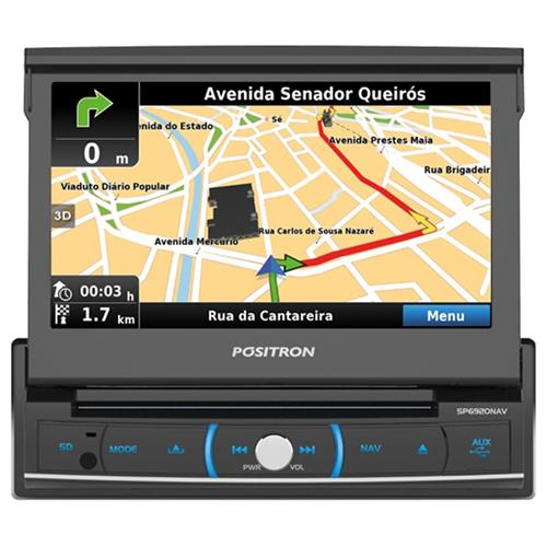 DVD Player Automotivo Pósitron SP6920NAV Com Tela Retratil 7 Touch Gps Tv Mirror Connect