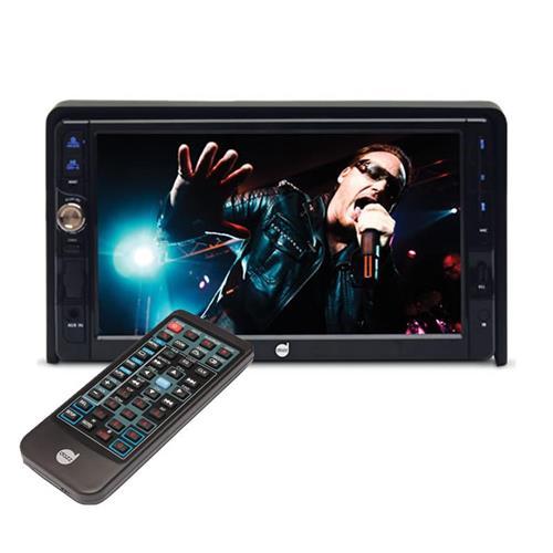 DVD 2 Din Dazz Tela LCD 7 Pol Touch Screen Bluetooth Usb/Cd/Dvd/SD Card/ Radio