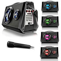 Caixa de Som Multilaser SP217 Multiuso Bluetooth Led com Microfone