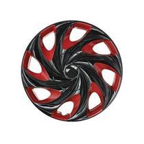 Jogo de Calotas Aro 13 Podium P844 Universal Twister Vermelha e Preta
