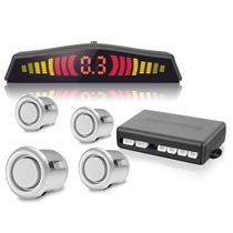 Sensor Estacionamento Tech One Standard T1SE4PPA Prata 4 Pontos Display Colorido