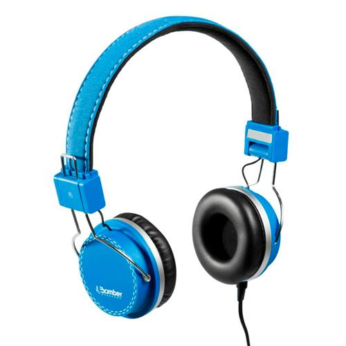Headphone Bomber Quake Cabo Flat HB02 Blue