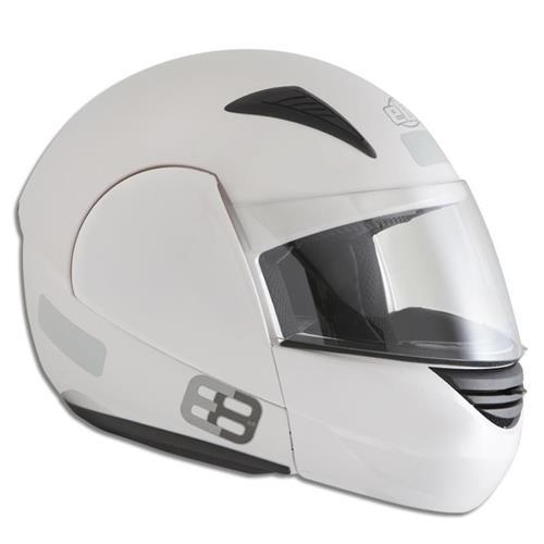 Capacete Moto EBF E08 Articulado Robocop 56 Branco