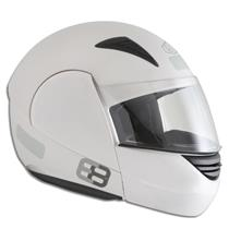 Capacete Moto EBF E08 Articulado Robocop 58 Branco