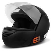 Capacete Moto EBF E08 Articulado Robocop 58 Preto Fosco
