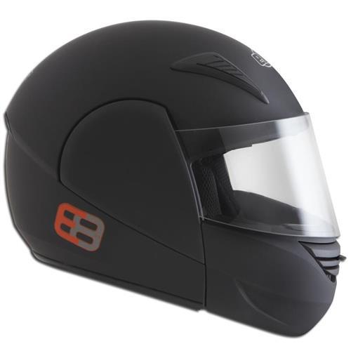 Capacete Moto EBF E08 Articulado Robocop 62 Preto Fosco