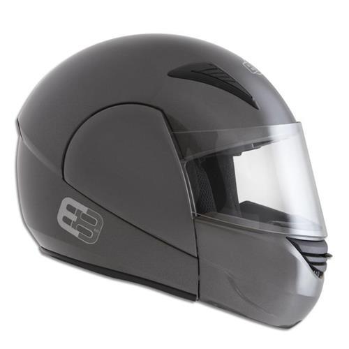 Capacete Moto EBF E08 Solid Articulado 56 Chumbo