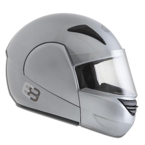 Capacete Moto EBF E08 Solid Articulado 56 Prata
