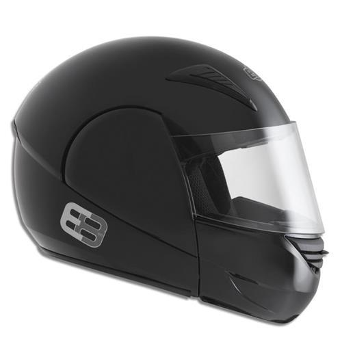 Capacete Moto EBF E08 Solid Articulado 56 Preto Brilho