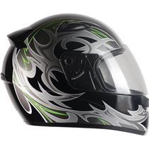 Capacete Moto EBF New Spark Thor P04 Fechado 58 Preto Prata