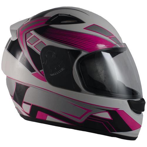 Capacete Moto EBF New Spark Six B07 Fechado 58 Branco Rosa