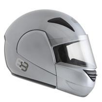 Capacete Moto EBF E08 Solid Articulado 60 Prata