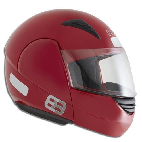 Capacete Moto EBF E08 Solid Articulado 56 Vermelho