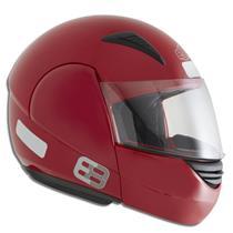 Capacete Moto EBF E08 Solid Articulado 58 Vermelho