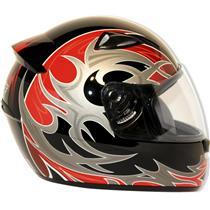 Capacete Moto EBF New Spark Thor P05 Fechado 58 Preto Vermelho
