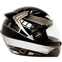 Capacete Moto EBF New Spark Six P04 Fechado 60 Preto Prata