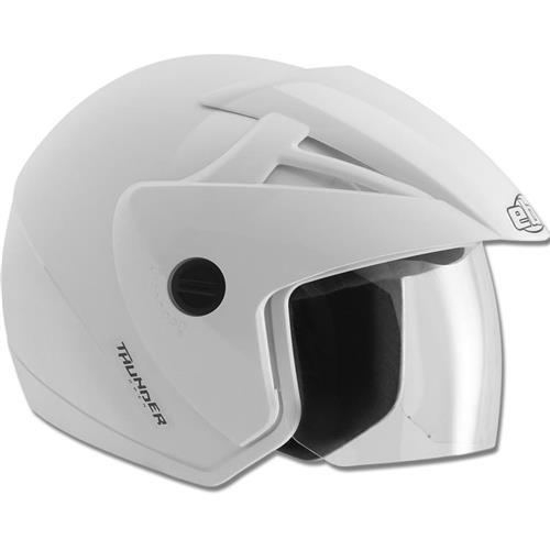 Capacete Moto EBF Thunder Open Solid Aberto 56 Branco