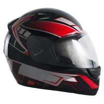 Capacete Moto EBF New Spark Six P05 Fechado 56 Preto Vermelho