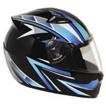 Capacete Moto EBF New Spark Tracker P02 Fechado 56 Preto Azul