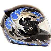 Capacete Moto EBF New Spark Thor P02 Fechado 56 Preto Azul