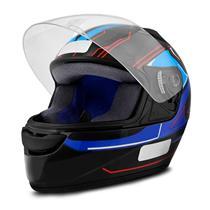 Capacete Moto EBF New Spark Tech P02 Fechado 58 Preto Azul