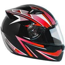 Capacete Moto EBF New Spark Tracker P05 Fechado 56 Preto Vermelho