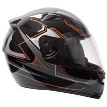 Capacete Moto EBF New Spark Tech P06 Fechado 58 Preto Laranja