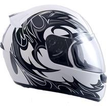 Capacete Moto EBF New Spark Thor B08 Fechado 56 Branco Preto