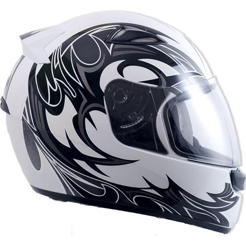 Capacete Moto EBF New Spark Thor B08 Fechado 58 Branco Preto