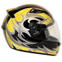 Capacete Moto EBF New Spark Thor P01 Fechado 56 Preto Amarelo