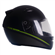 Capacete Moto EBF Spark Black Edition F01 Fechado 58 Preto Fosco Verde