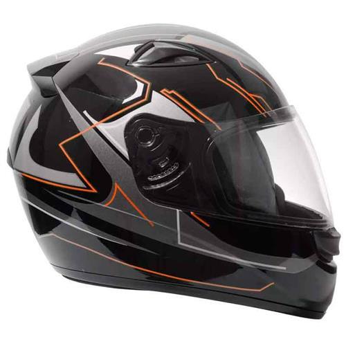 Capacete Moto EBF New Spark Tech P06 Fechado 56 Preto Laranja