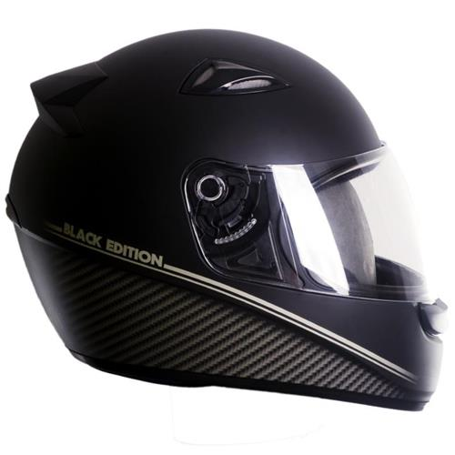 Capacete Moto EBF Spark Black Edition F04 Fechado 56 Preto Fosco
