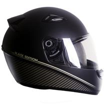 Capacete Moto EBF Spark Black Edition F04 Fechado 60 Preto Fosco