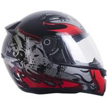 Capacete Moto EBF EOX Dragão Fechado 58 Preto